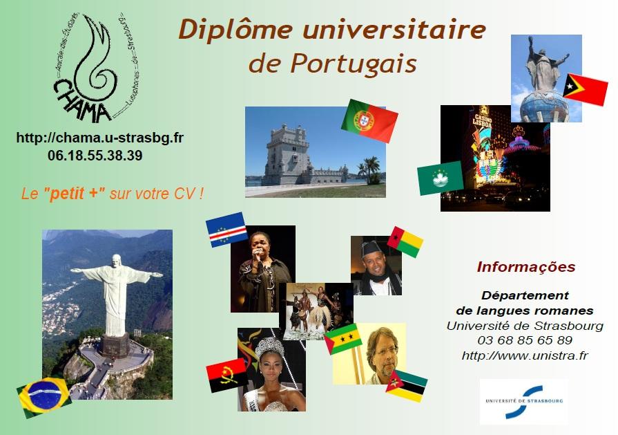 Affiche Diplome Universitaire de Portugais