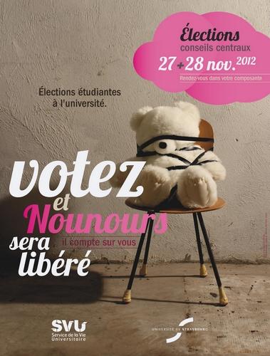 Affiche élections étudiantes 2012